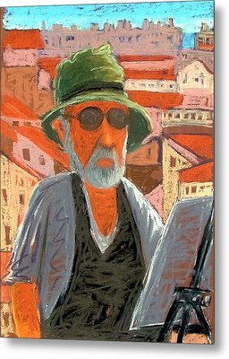 Metal Print featuring the painting Antibes Self by Gary Coleman