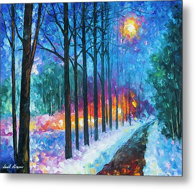 Anticipation Of Spring  Metal Print by Leonid Afremov
