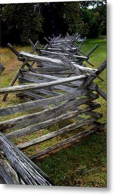 Antietam Fenceline Metal Print by Judi Quelland