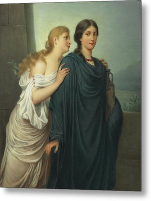 Antigone And Ismene Metal Print