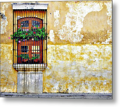 Antigua Window Metal Print