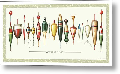 Antique Bobbers Metal Print by JQ Licensing