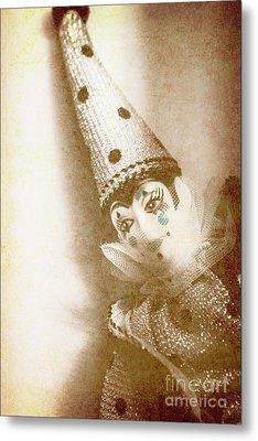 Antique Carnival Doll Metal Print