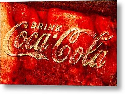 Antique Coca-cola Cooler Metal Print by Stephen Anderson