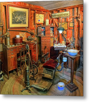 Antique Dental Office Metal Print