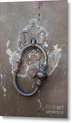 Antique Door Knocker Metal Print by Elena Elisseeva