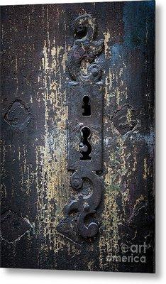 Metal Print featuring the photograph Antique Door Lock Detail by Elena Elisseeva