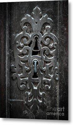 Antique Door Lock Metal Print by Elena Elisseeva