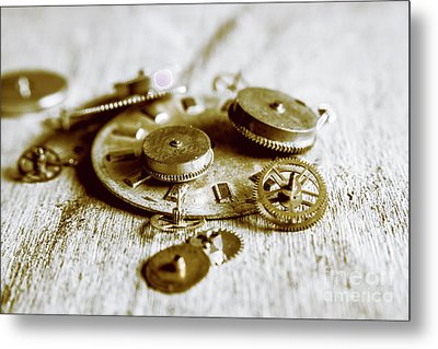 Antique Factory Settings Metal Print by Jorgo Photography - Wall Art Gallery