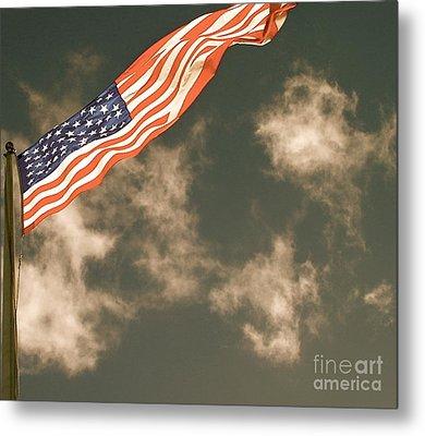 Antique Flag Metal Print