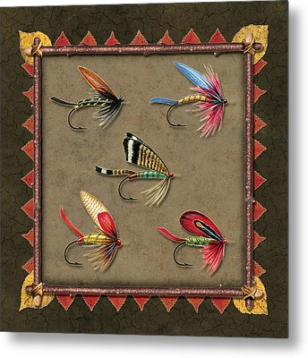Antique Fly Panel Metal Print by JQ Licensing