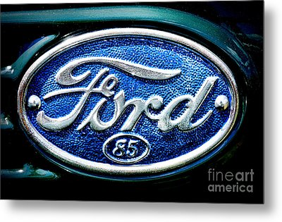 Antique Ford Badge Metal Print by Olivier Le Queinec