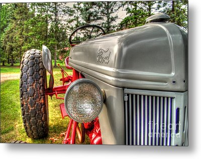 Antique Ford Tractor Metal Print by Michael Garyet