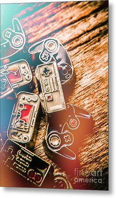 Antique Gaming Consoles Metal Print by Jorgo Photography - Wall Art Gallery