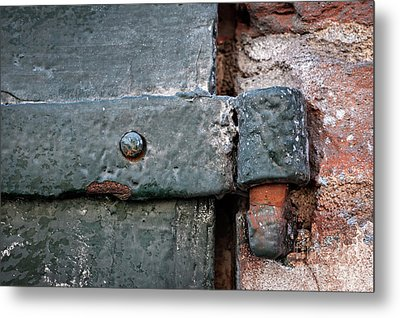 Metal Print featuring the photograph Antique Hinge by Elena Elisseeva