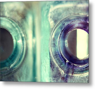 Metal Print featuring the photograph Antique Inkwells by Amy Tyler