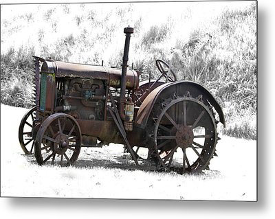 Antique Iron Horse Metal Print by Kathy M Krause