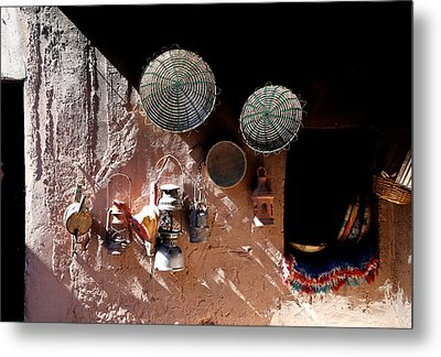 Metal Print featuring the photograph Antique Lanterns by Andrew Fare