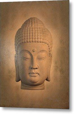 antique oil effect Buddha Korean , Metal Print by Terrell Kaucher