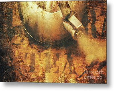 Antique Old Tea Metal Sign. Rusted Drinks Artwork Metal Print