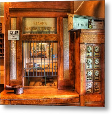 Antique Post Office At The General Store -  Metal Print by Lee Dos Santos