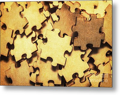Antique Puzzle Of Missing Links Metal Print by Jorgo Photography - Wall Art Gallery