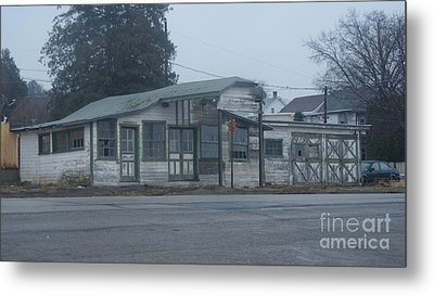 Antique Refueling Station   # Metal Print