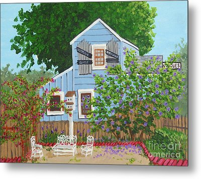Metal Print featuring the painting Antique Shop, Cambria Ca by Katherine Young-Beck