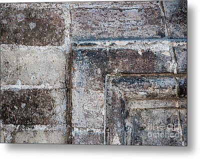 Metal Print featuring the photograph Antique Stone Wall Detail by Elena Elisseeva