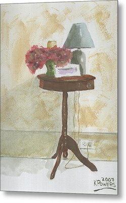 Antique Table Metal Print by Ken Powers