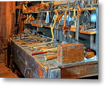 Antique Tool Bench Metal Print