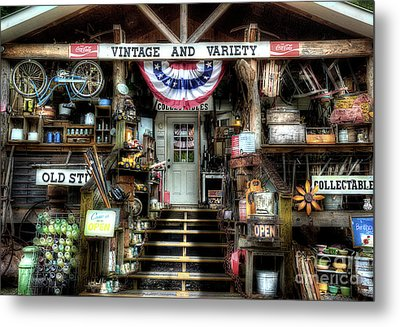 Antiques And Collectibles Metal Print