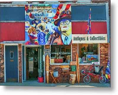 Antiques And Collectibles Metal Print by Trey Foerster