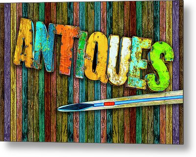 Metal Print featuring the photograph Antiques by Paul Wear