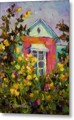 Metal Print featuring the painting Antoinette's Cottage by Chris Brandley