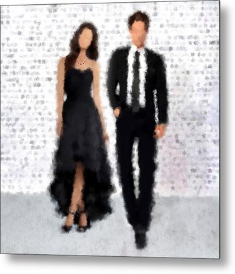 Metal Print featuring the digital art Antonia And Giovanni by Nancy Levan