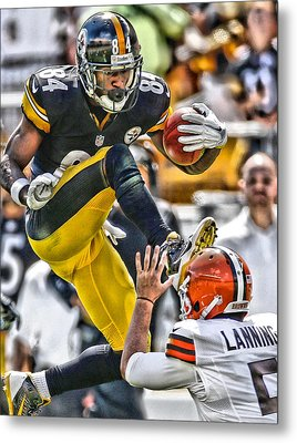 Antonio Brown Steelers Art 5 Metal Print by Joe Hamilton