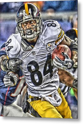 Antonio Brown Steelers Art Metal Print