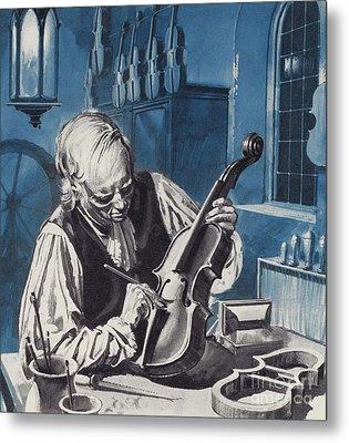 Antonio Stradivari Metal Print