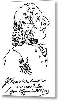 Antonio Vivaldi (c1675-1741) Metal Print by Granger