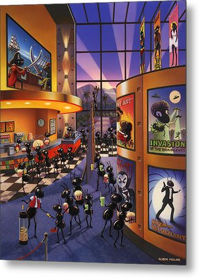 Ants At The Movie Theatre Metal Print by Robin Moline