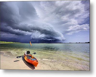 Any Port In A Storm Metal Print by JC Findley