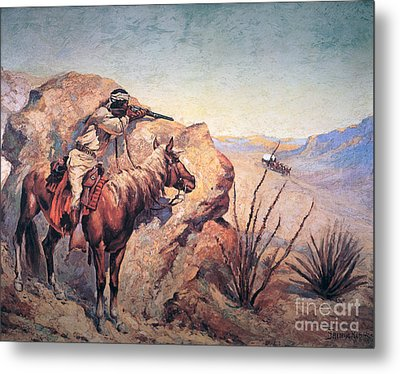 Apache Ambush Metal Print by Frederic Remington