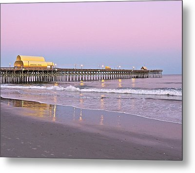 Apache Pier Sunset Metal Print by Eve Spring