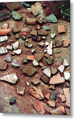 Metal Print featuring the photograph Apache Pottery Shards by Juls Adams