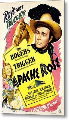 Apache Rose, Roy Rogers, Dale Evans Metal Print
