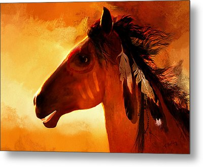 Apache Metal Print by Valerie Anne Kelly