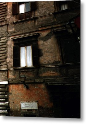 Metal Print featuring the photograph Apartment House On Piazza Mattei In Rome by Merton Allen