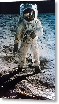 Apollo 11: Buzz Aldrin Metal Print by Granger
