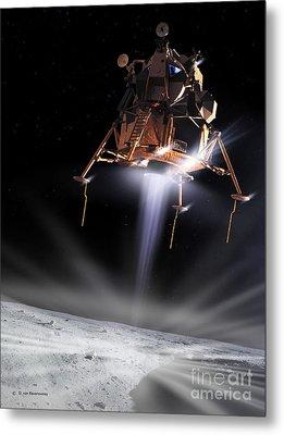 Apollo 11 Moon Landing Metal Print by Detlev Van Ravenswaay and Photo Researchers
